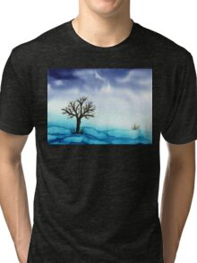 Landscape in Blue  Tri-blend T-Shirt