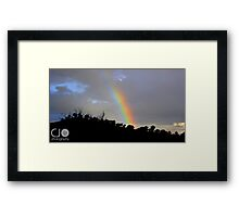 Rainbows and Rural Sky Lines Framed Print