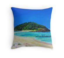 Crampton Island by Stephanie Burns Throw Pillow