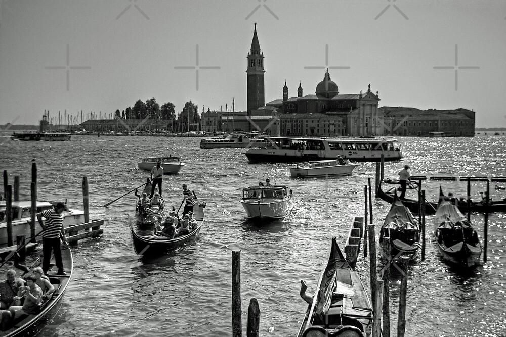 Giudecca Canal - B&W by Tom Gomez