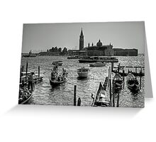 Giudecca Canal - B&W Greeting Card