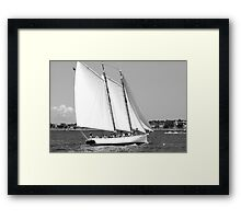 Sailing!  Black and White Framed Print