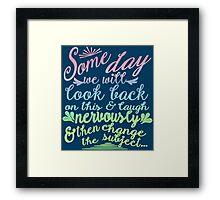 Sketchy Shenanigans Typography Framed Print