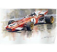 Ferrari 312 B2 1971 Monaco GP F1 Jacky Ickx Poster