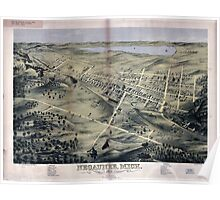 Panoramic Maps Negaunee Mich 1871 Poster
