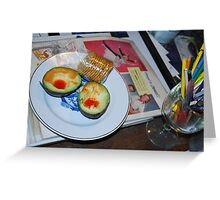 Lunch and Collage Materials Greeting Card