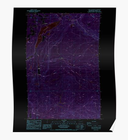 USGS Topo Map Washington State WA Lake Kapowsin 241877 1987 24000 Inverted Poster