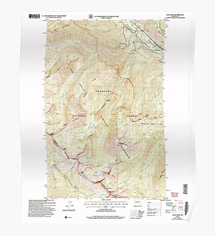 USGS Topo Map Washington State WA Oval Peak 243038 2002 24000 Poster
