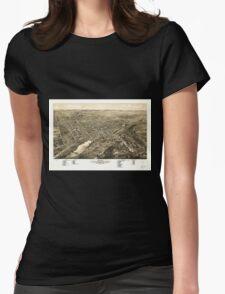 Panoramic Maps Bird's eye view of Waukesha c s of Waukesha Co Wis 1880 Womens Fitted T-Shirt