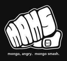 Mongo Angry Mongo Smash Fist Logo White by AngryMongo