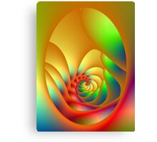 Psychedelic Oval Spiral Canvas Print