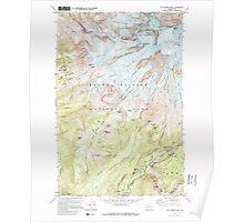 USGS Topo Map Washington State WA Mt Rainier West 242657 1971 24000 Poster