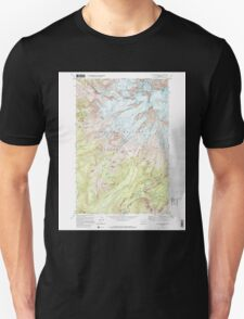 USGS Topo Map Washington State WA Mt Rainier West 242657 1971 24000 Unisex T-Shirt