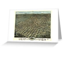 Panoramic Maps Birds eye view of the city of Atlanta the capitol of Georgia 1871 Greeting Card