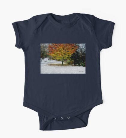 Beech Tree ~ Caught in a Snow Flurry One Piece - Short Sleeve