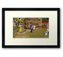 No Huffing and Puffing Framed Print