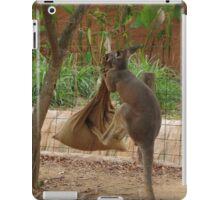 Kangaroo kicking a sack. iPad Case/Skin