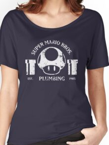 Super Mario Bros. Plumbing (Dark) Women's Relaxed Fit T-Shirt
