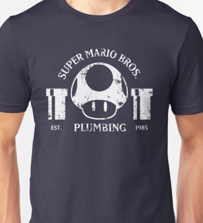 Super Mario Bros. Plumbing (Dark) Unisex T-Shirt
