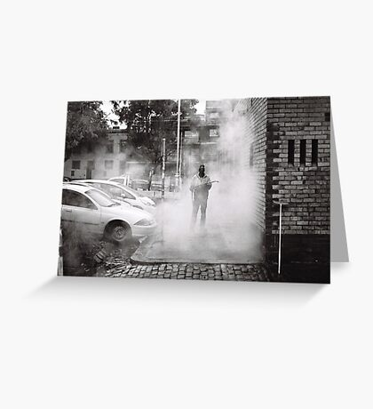 Street Menace Greeting Card