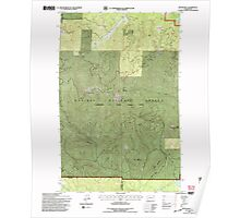 USGS Topo Map Washington State WA Boyer Mtn 240191 1992 24000 Poster