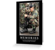Memories: Inspirational Quote and Motivational Poster Greeting Card