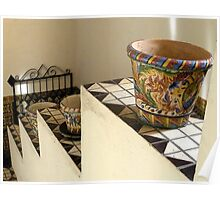 """""""Pots on Tiers on Stairs"""" Poster"""
