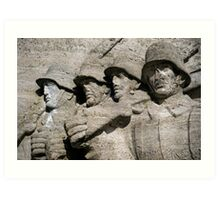 German soldiers. Art Print