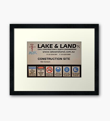 Lake and Land Pty Ltd Framed Print