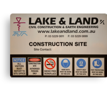 Lake and Land Pty Ltd Canvas Print
