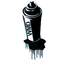 Spray paint graffiti  Photographic Print