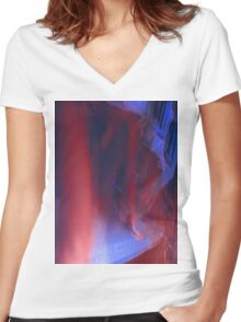 Last Night July12  2009 72 Women's Fitted V-Neck T-Shirt