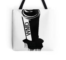 Spray paint graffiti black Tote Bag