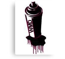Spray paint graffiti red Canvas Print