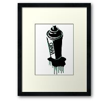 Spray paint graffiti teal Framed Print