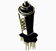 Spray paint graffiti yellow Unisex T-Shirt