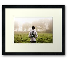 Palace Triangle / Hoodie In Forrest Framed Print