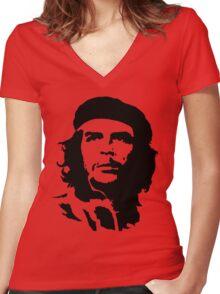 che guevara t-shirt Women's Fitted V-Neck T-Shirt