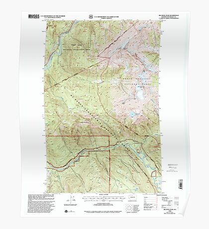 USGS Topo Map Washington State WA Big Devil Peak 240047 1999 24000 Poster