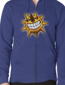 Soul Eater Sun  Zipped Hoodie