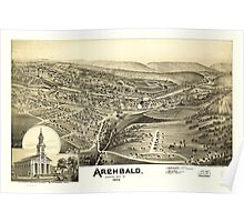 Panoramic Maps Archbald Lackawanna County Pa 1892 Poster