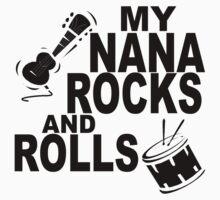 My Nana Rocks And Rolls Baby Tee