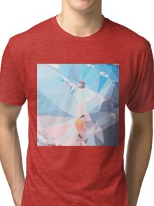 Air Superiority Blue Abstract Low Polygon Background Tri-blend T-Shirt