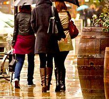 Ladies in the Rain by Andy Merrett