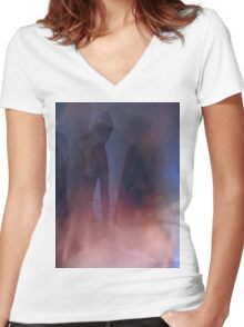 Last Night number 11 Women's Fitted V-Neck T-Shirt