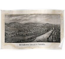 Panoramic Maps Village of Wyoming Wyoming Valley Penn'a scene of the massacre of July 3rd 1778 Poster