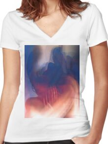 Last Night July12  2009 62 Women's Fitted V-Neck T-Shirt