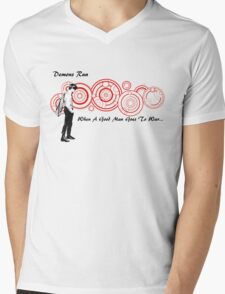 Drwho galigrafics Mens V-Neck T-Shirt