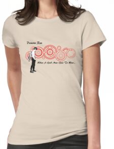 Drwho galigrafics Womens Fitted T-Shirt