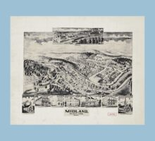 Panoramic Maps Midland Maryland One Piece - Short Sleeve
